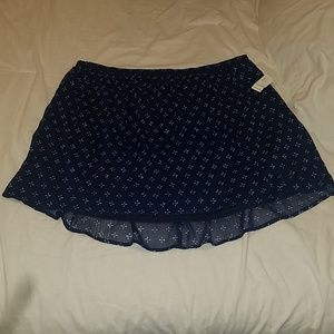 Flirty Navy Skirt Print